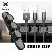 Baseus Cable Clip Peas Black| Armenius Store