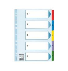 Filing & Archiving Esselte Premium Plastic dividers A4|armenius.com.cy