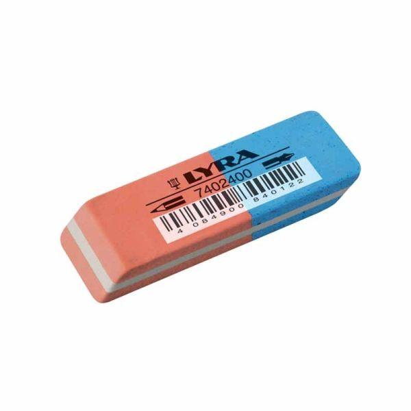Corrections Lyra Red/Blue rubber erasers|armenius.com.cy