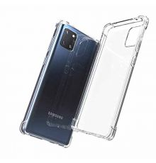 Silicone Case Shockproof Samsung Galaxy A71 Clear|armenius.com.cy