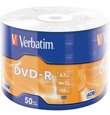 Verbatim DVD-R 4.7 GB SP-50 / Matt Silver / 16X|armenius.com.cy