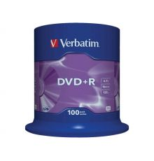 Verbatim DVD+R 4.7 GB SP-100 / Matt Silver / 16X|armenius.com.cy