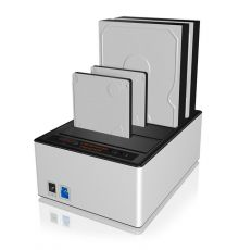 Icy Box IB-141CL-U3 Dock Station Clone HDD SSD 4