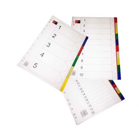 BLACKRED PVC Dividers A4 5, 10, 20 tabs|armenius.com.cy