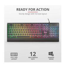 Trust Ziva Gaming Rainbow LED Keyboard GR Layout| Armenius Store