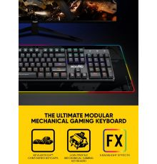 Armaggeddon SMK-6C PSYCHKESTREL Low Profile Blue Switch Mechanical Keyboard 