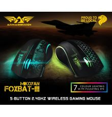 Armaggeddon Foxbat 3 Ironsight7 Pro-Gaming Wireless Rechargeable Mouse|