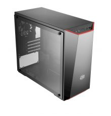 Cooler Master MasterBox LITE 3.1 Tempered Glass Micro ATX PC Case Black/Red|