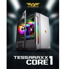 Armaggeddon TESSERAXX Core 1 Micro ATX Gaming Case Black/Dark