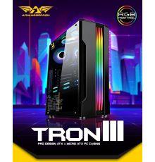 Armaggeddon TRON III ATX Gaming Case Black|armenius.com.cy