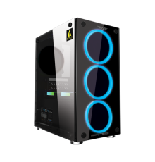 Armaggeddon Nimitz TR-1100 Micro ATX Gaming PC Case with PSU & 3 Fans