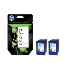 Ink cartridge HP 57 2-pack Tri-colour Inkjet Print Cartridges