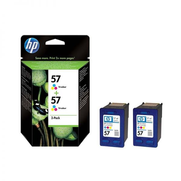 Ink cartridge HP 57 2-pack Tri-colour Inkjet Print Cartridges