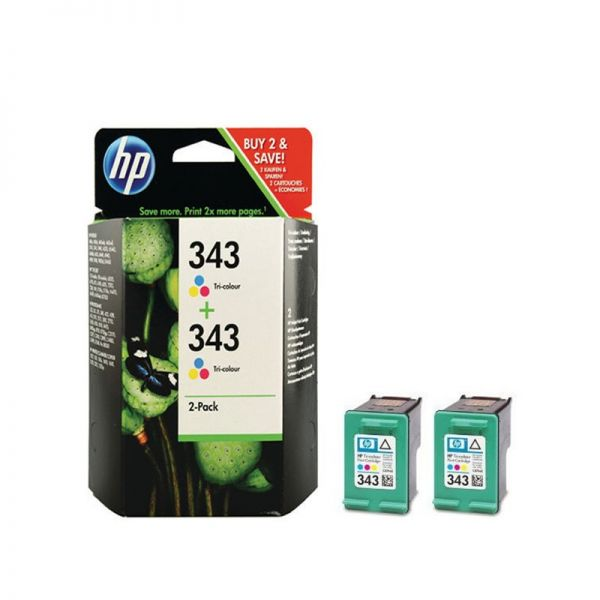 Ink cartridge HP 343 2-pack Tri-color Original Ink Cartridges