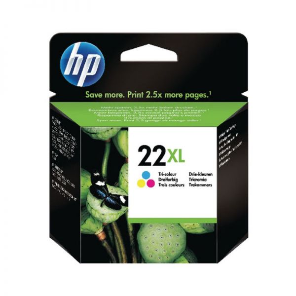 Ink cartridge HP 22XL High Yield Tri-color Original Ink