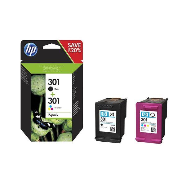 Ink cartridge HP 301 2-pack Black/Tri-color Original Ink