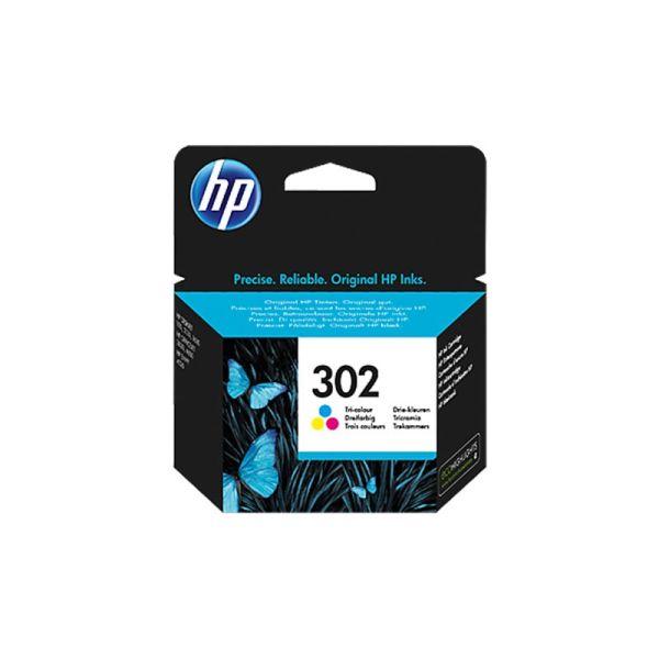 HP 302 Color Ink Cartridge F6U65AE|armenius.com.cy