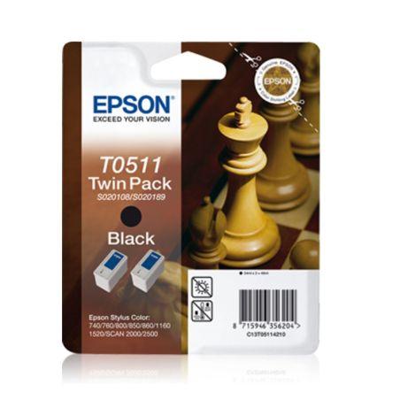 Ink cartridge Twinpack Black T0511 armenius.com.cy