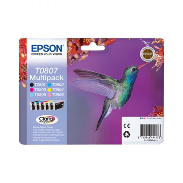 Ink cartridge Multipack 6-colours T0807 Claria Photographic