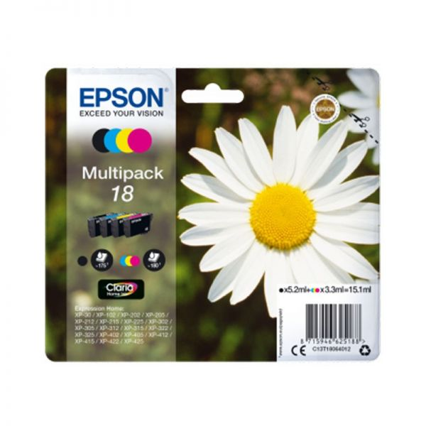 Ink cartridge Multipack 4-colours 18 Claria Home