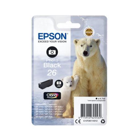 Ink cartridge Singlepack Photo Black 26 Claria Premium