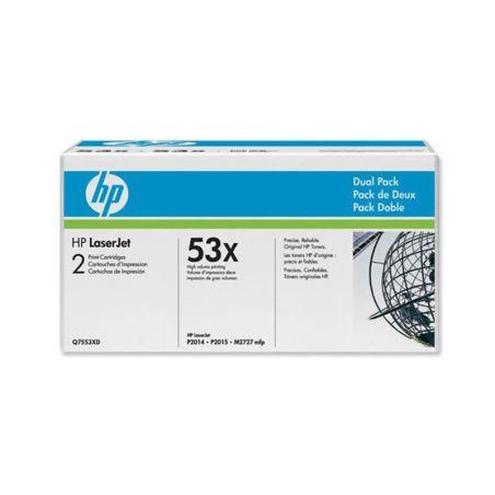 Toners HP LaserJet Dual Pack Black Print Cartridges Q7553XD|armenius.com.cy