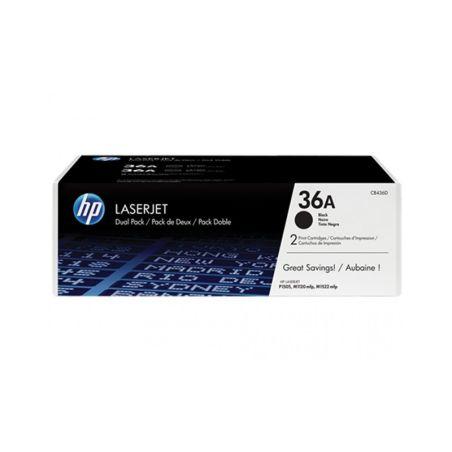 Toners HP 36A Black Dual Pack LaserJet Toner Cartridges CB436AD|armenius.com.cy