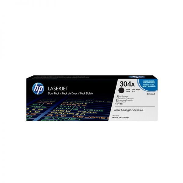 Toner HP 304A Black Dual Pack LaserJet Toner Cartridges