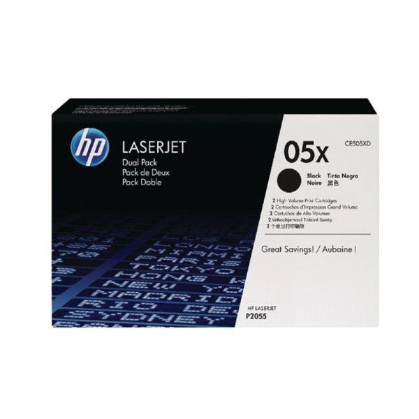 Toner HP 05X Black Dual Pack LaserJet Toner Cartridges