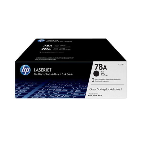 Toners HP 78A Black Dual Pack LaserJet Toner Cartridges CE278AD|armenius.com.cy