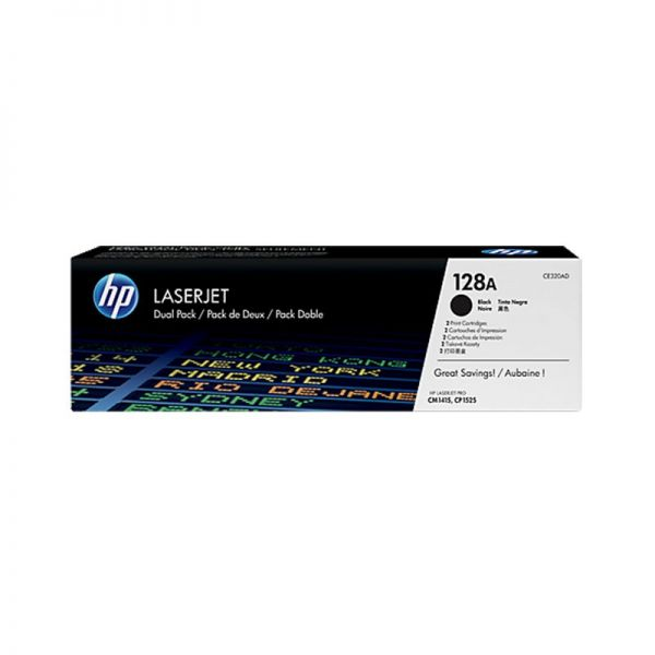 Toner HP 128A Black Dual Pack LaserJet Toner Cartridges