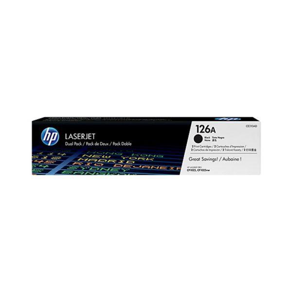 Toners HP 126A Black Dual Pack LaserJet Toner Cartridges CE310AD|armenius.com.cy