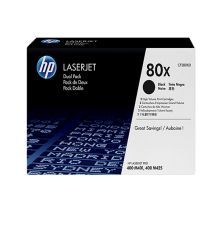Toner HP 80X Black Dual Pack LaserJet Toner Cartridges