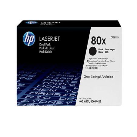 Toner HP 80X Black Dual Pack LaserJet Toner Cartridges