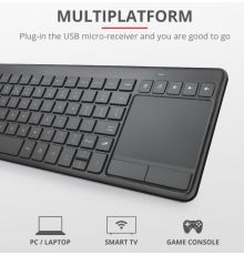 Trust Vaia Wireless Keyboard with large Touchpad|armenius.com.cy