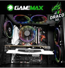Gamemax Draco XD ATX Case with 4 ARGB Fans|armenius.com.cy