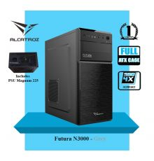 Alcatroz Futura Black N3000 Case with 225W PSU Black|armenius.com.cy