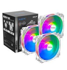 ALSEYE M120P KIT 4pin PWM + 3pin Adjustable RGB Fans Aura Compatible