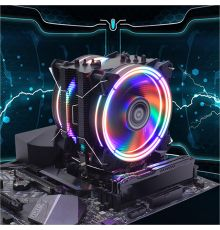 Alseye H120D CPU Cooler PWM 4 Pin with 6 Heat Pipes and Dual