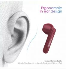 SonicGear EarPump TWS3+ BT Earphones Maroon|armenius.com.cy
