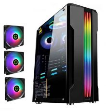 Armaggeddon TRON III ATX Gaming Case Black With 3 Fixed RGB