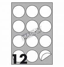 Markin A4 210 x 297/ 100 Sheets Box/ Round Labels|armenius.com.cy