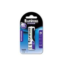 Uniross LIR18650BT 2500mAh Lithium Button Top Rechargeable