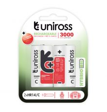 Uniross C 3000 Hybrio Rechargable Batteries 2 Pcs  Armenius Store