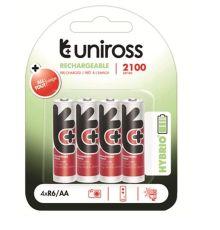 Uniross AA 2100 Hybrio Rechargable Batteries 4 Pcs|armenius.com.cy