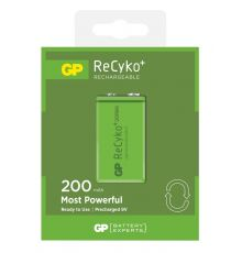 GP ReCyKo+200 PP3 9V Recharg. Battery 656.857UK|armenius.com.cy