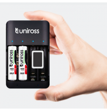 Uniross UCU004A USB Compact Multi Charger with 4x AA 2100