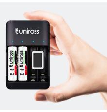 Uniross UCU004 USB Compact Multi Battery Charger armenius.com.cy