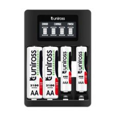 Uniross UCU005A Ultra Fast Charger With 4x AA 2700 NIMH