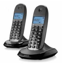 Cordless Phone Motorola C1002LB Duo black armenius.com.cy
